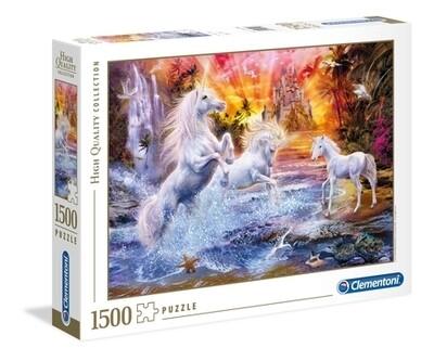 CLEMENTONI - Wild Unicorns - 1500 pièces - High Quality Collection