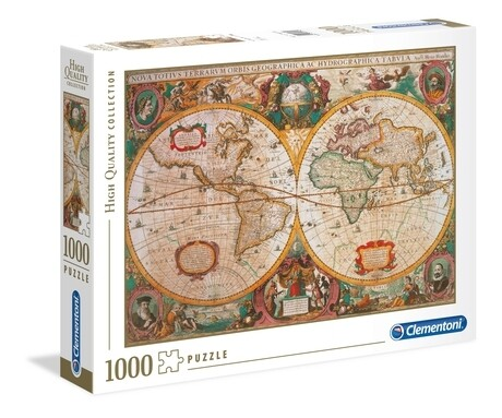 CLEMENTONI - Old Map  - 1000 pièces - High Quality Collection