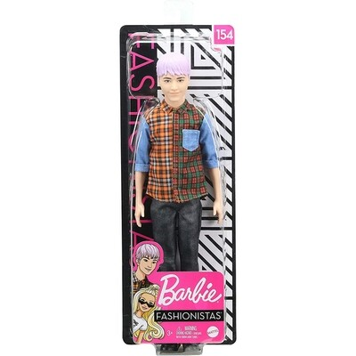 BARBIE -  Poupée Ken Fashionistas n°154