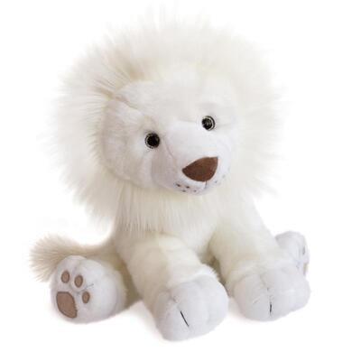 Peluche lion des neiges - 40 cm