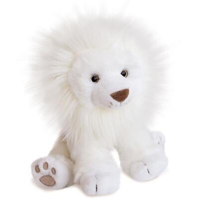 Peluche lion des neiges - 28 cm