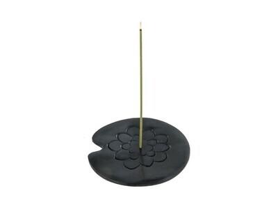 Porte-encens mixte en pierre lotus