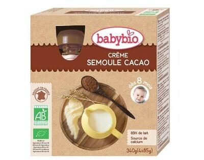 Gourdes crème cacao semoule - dès 8 mois - 4x90g