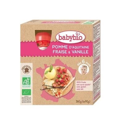 Gourdes pomme fraise vanille - dès 6 mois - 4x90g