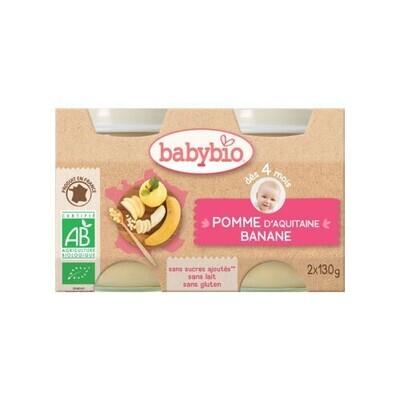 Petits pots pomme banane - dès 4 mois - 2x130g