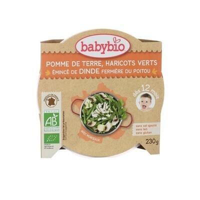 Assiette pomme de terre haricot vert et dinde - dès 12 mois - 230g