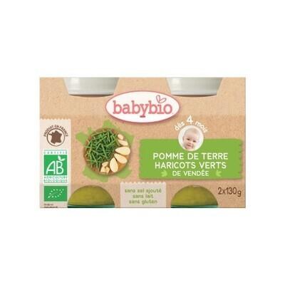 Petits pots pomme de terre haricot vert - dès 4 mois - 2x130g