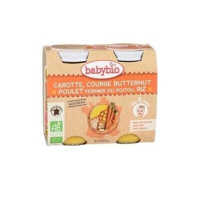 Petits pots carotte courge butternut poulet riz - dès 6 mois - 2x200g