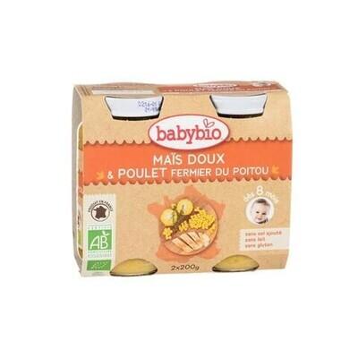 Petits pots maïs doux et poulet - dès 8 mois - 2x200g