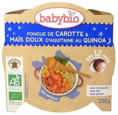 Assiette fondue de carotte mais doux quinoa - dès 12 mois - 230g