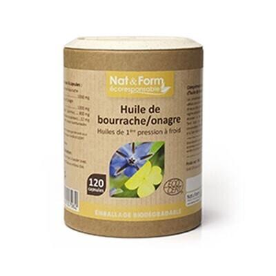 Huile bourrache onagre - 120 capsules