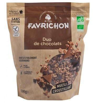 Muesli croustillant duo de chocolat - 500g