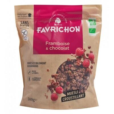 Muesli croustillant framboise chocolat - 500g
