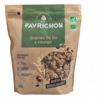 Muesli croustillant graines de lin et courge - 450g