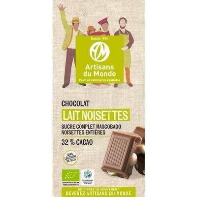 Chocolat au lait noisette - 100g