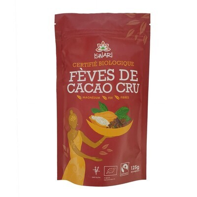 Cacao cru éclats de fèves de cacao - 125g