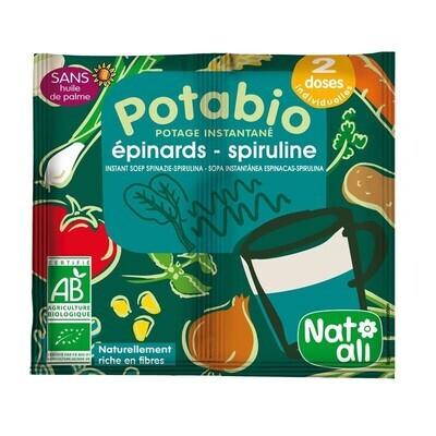 Potabio - Potage épinard spiruline - 2x8.5g