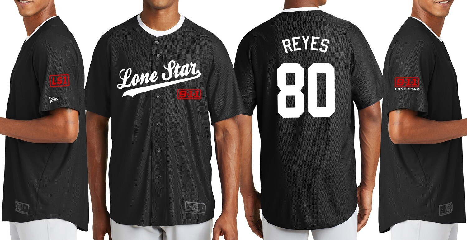 PERSONALIZED Lone Star New Era Full Button Jersey (Choose Pickup On Checkout. Product will be delivered).