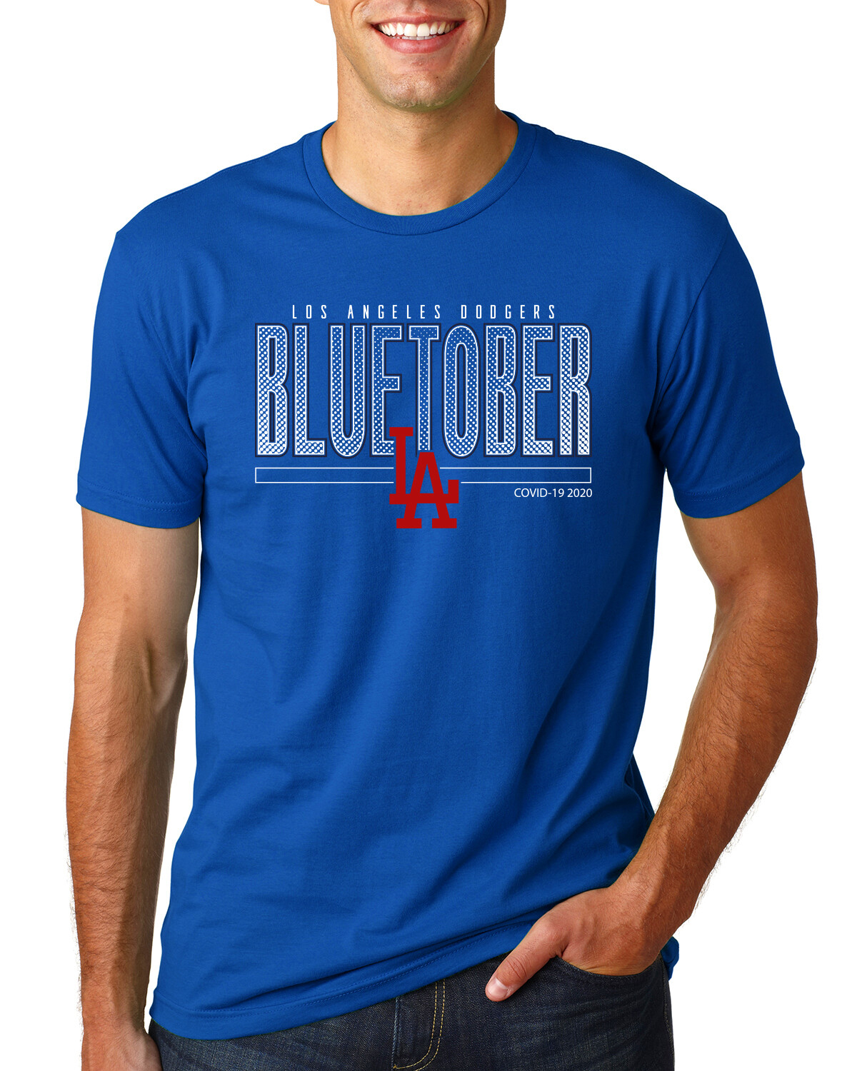 Dodgers BLUETOBER Post Season Men's FITTED Shirt