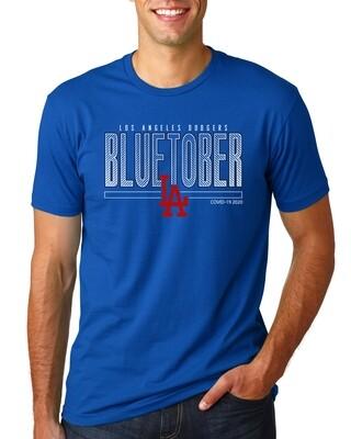 Dodgers BLUETOBER Post Season Men's FITTED Shirt