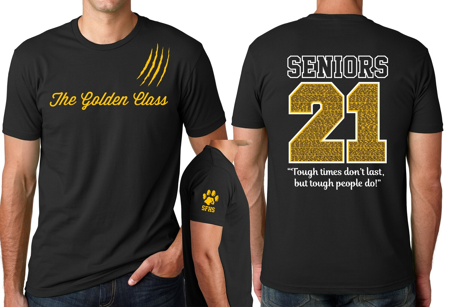 SFHS 2021 Class T-Shirt - ORDER NOW - PICKUP WITH CAP & GOWN