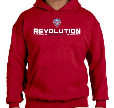 YOUTH Red Pullover Hooded Sweatshirt