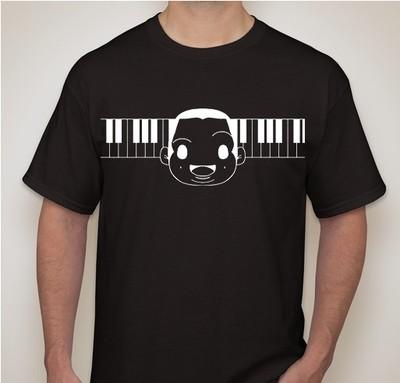 Sunny Face - Piano Keys T-Shirt