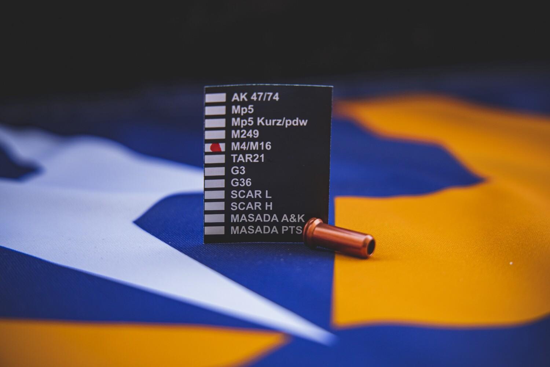 Dmac Nozzle con O-RING in Ergal per AEG - Tutte le lunghezze disponibili