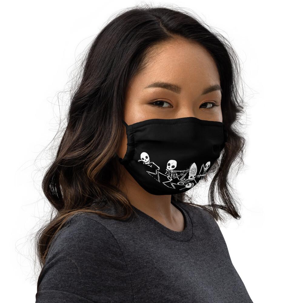 DANZA MACABRA 💀☠️💀 Mascherina lavabile nera | Premium face mask