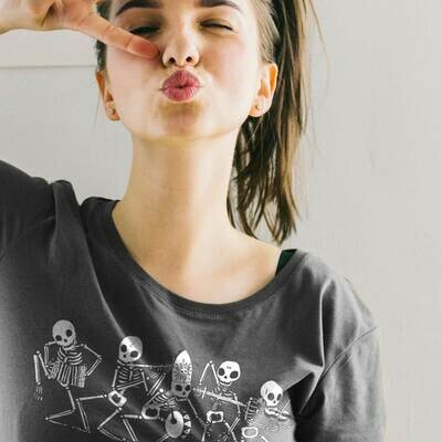 DANZA MACABRA 💀☠️💀 T-shirt DONNA   Bella + Canvas 3001