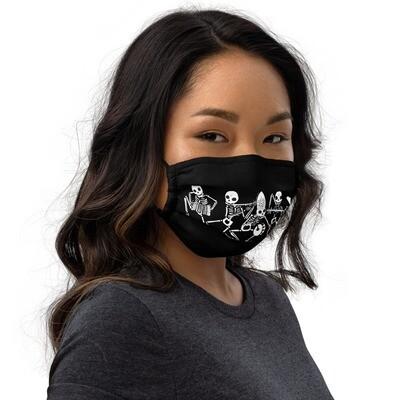 DANZA MACABRA 💀☠️💀 Mascherina lavabile nera   Premium face mask