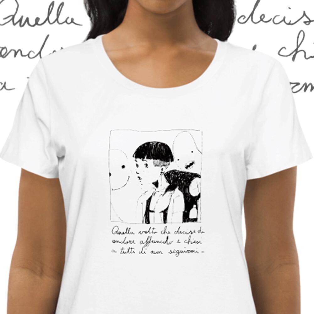 Storie di Mostri e Conoscenti - Storia 37 - T-shirt bianca da Donna - 100% cotone biologico - Women's fitted eco tee
