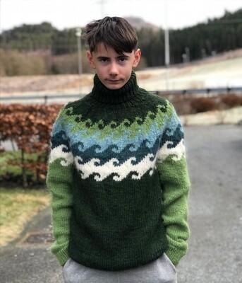KANT® BØLGE GENSER - GRØNN (11)