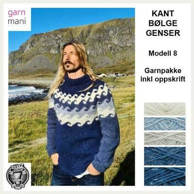 KANT® BØLGE GENSER - BLÅ (08)
