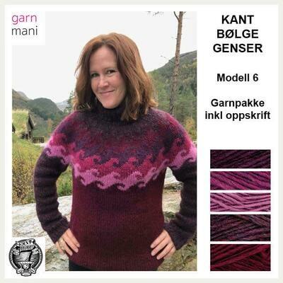 KANT® BØLGE GENSER KIT - RØD (06)
