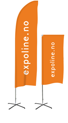 Beachflagg proffesional Flag system fra expolinc