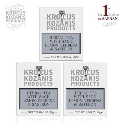 [Krocus Kozanis Products] 希臘鼠尾草&番紅花茶飲組(3盒含運組)