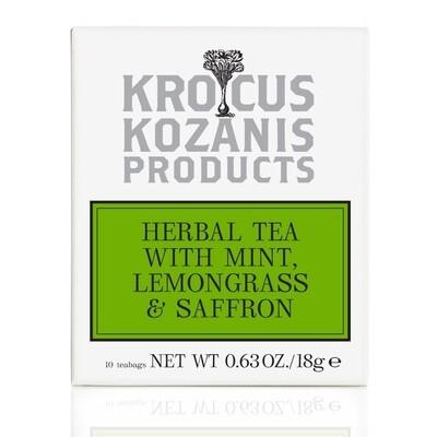 [Krocus Kozanis Products] 希臘薄荷檸檬草&番紅花茶飲組(3盒含運組)