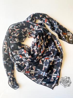 "Thunderbird Chiffon Fashion Scarf Wild Rag 42"""