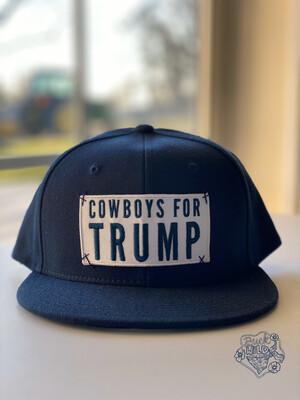 "Navy Blue ""Cowboys For Trump"" Hat"