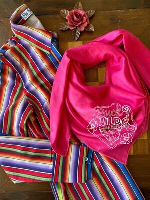"""Fuchsia Pink Solid Cowboy Wild Rag 40"""""""