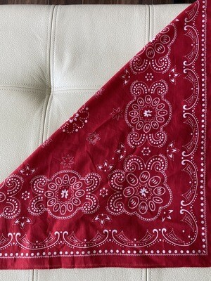 "Bandana Red 24"" 100% Cotton"