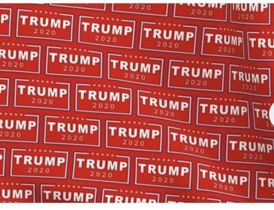 "Trump 2020 Red/White Western Cowboy Wild Rag Scarf 36"""