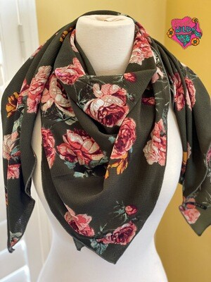 "Olive- 42"" Bubble Crepe Ladies Fashion Scarf"