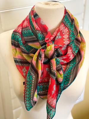 "India- 42"" Chiffon Ladies Fashion Scarf Wild Rag"