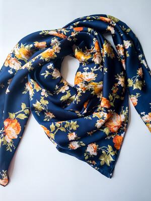 """Kimono- 42"""" Silky Soft Floral Wild Rag"""