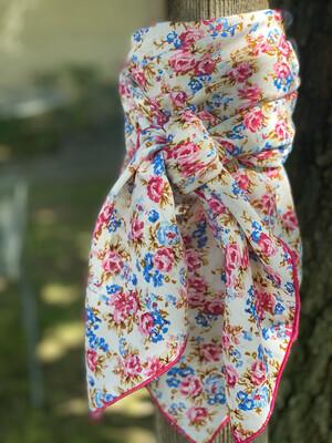 "MiMi- 42"" Vintage Inspired Floral Wild Rag"