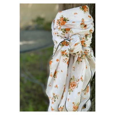 """Goldie- 42"""" Challis Floral Wild Rag"""