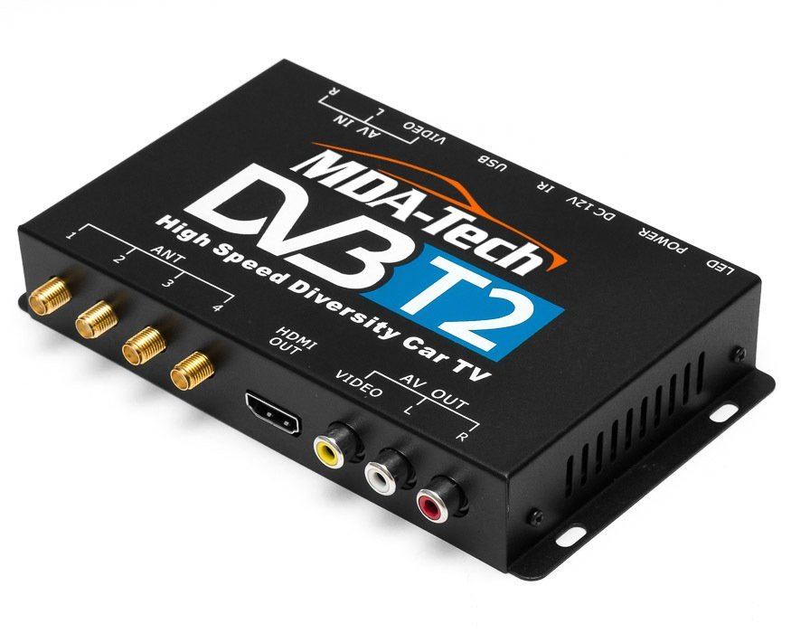 Автомобильный цифровой ТВ-тюнер MDA-DVB-T2 с четырьмя антеннами