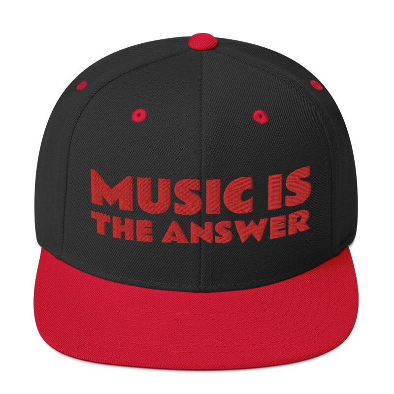 Music is The Answer :   : Snapback Hat